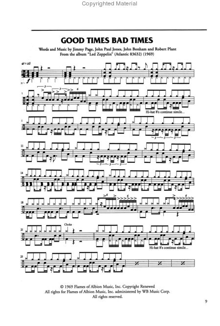 Drum Set Sheet Music | Free-drum-lessons-online comfree-drum